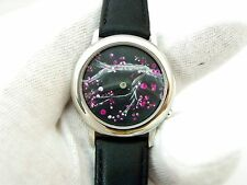 "HAND PAINTED 3D DIAL ""Animated Cherri Blossoms"",Series 2, #1,MEN'S WATCH 1932"