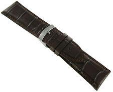 24mm Morellato Brown Alligator Grain Padded Genuine Leather Mens Watch Band 3395