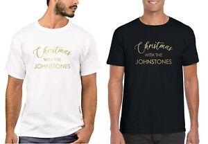 Personalised Christmas With The Family Name Matching T-Shirts Xmas Shirt Unisex