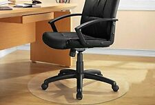 PVC Home Office Chair Floor Mat  for Pile Carpet Round 30""