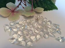 Vintage Rhinestone Pear shape Crystal 13x7 Unfoiled 12 CRAFT DESIGN Post Free