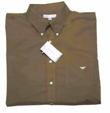 Mens Emporio Armani Shirt Brown Cotton Size 44 or 17.5 X 38