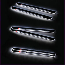 2x S-line LED Moving Welcome Light Door Sill Scuff Plate For Audi A5 S5 2-door