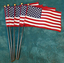 Lot Of 5 Mini Cloth American Flags! 4Th Of July! Independence Day!