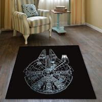 Star Wars Millennium Falcon Velboa Floor Rug Carpet Room Doormat Non-slip Mat 22