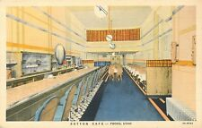 PROVO UTAH SUTTON CAFE  RESTAURANT VINTAGE LINEN POSTCARD VIEW