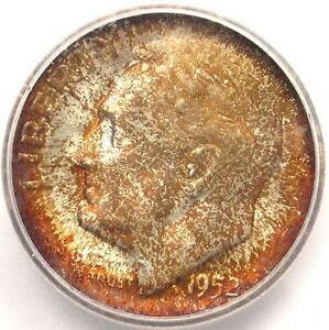 1952-S Roosevelt Dime 10C - ICG MS67 FB - Rare in MS67 Full Bands - $231 Value