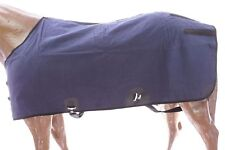 "74"" Canvas Duck Turnout Water Resistant Horse Winter Blanket Wool Lining Navy"