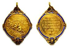 Medaglia Liberty Con Smalto 1932 Regate Sezionali D'Incoraggiamento Studentesche