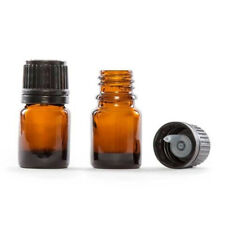 5mlX20 Amber Glass Vials Essential Oil Bottle with Orifice Reducer Cap Bottles
