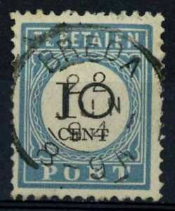 Netherlands 1881-94 SG#D168 10c Postage Due P12.5 Type I Used #E84650