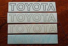 TOYOTA MR2 MK1 TOYOTA front bumper STICKER in GOLD x1  AW11 DECALS stripe