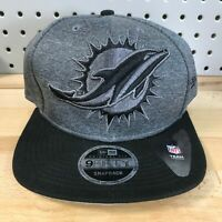 Miami Dolphins NFL Football New Era 9FIFTY SnapBack Heather Grey Cap EUC Hat