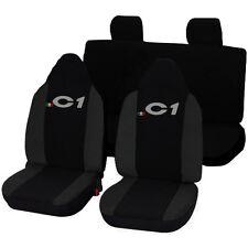 Autositzbezüge Sitz Citroen C1 Schonbezüge Spezifisch Zweifarbig Dunkelgrau