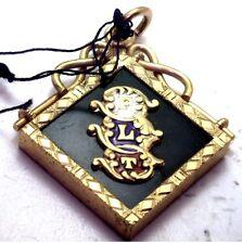 NOS Antique Gold GF FLT Independent Order of Odd Fellows Pendant Fob Enamel Z411