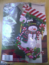 Bucilla Felt Christmas Stocking Kit - Candy Snowman - #86299