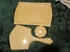 Vintage Tusculor Celluloid Powder Jar mirror and tray vanity - HYMLOT