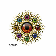 SMALL EYE TATTOO RETRO EYES TATTOO GOLD EYE TATTOO FUNKY MINI TATTOO 3D EYES