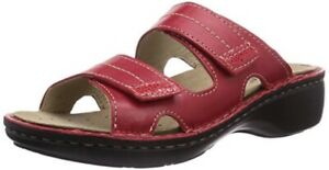 Rohde Mainz Women Clogs Sandal Mules 5777 Removable Footbed Red