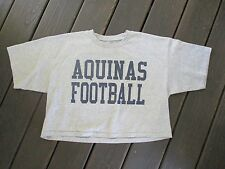 AQUINAS FOOTBALL Catholic high school sports jock half shirt t-shirt LARGE