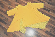 My OBSESSION- LOOK a strati°°zipfel- TUNICA JERSEY & PIZZO °° GIALLO SOLE