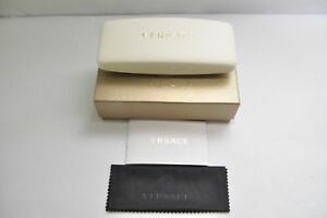 versace White Case and Box Glasses CASE Never used
