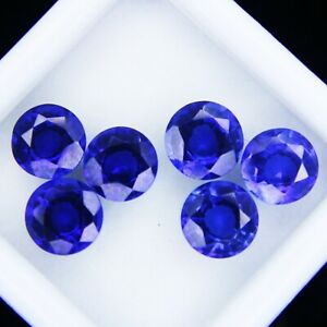 Natural Blue Unheated Sapphires Loose Gemstones 6.20 Ct Round Cut CCGL Certified