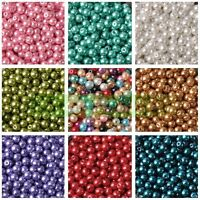 4mm/6mm/8mm Round Pearl Glass DIY Loose Spacer Seed Beads Wholesale Lot