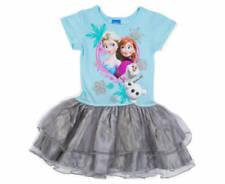 1670e6ad34 Disney Frozen Sparkly Tutu Dress Ruffled Shimmer Blue Grey Size 6 6x
