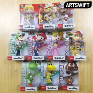 Amiibo Figure Super Mario Odyssey Peach Bowser Goomba Luigi Yoshi Region Free