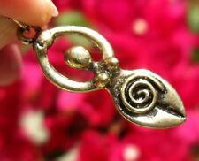 Gold Goddess Pendant Bronze Wicca Mother Earth Energy Venus Willendorf Jewelry