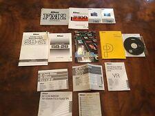 Lot of 14 NIKON Instructions Software Guide Manuals Camera Lens FM-2 F100 SB-28