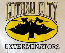 LAST1 80s VTG DC Batman funny Superhero Tim Burton Gotham HUGE t-shirt Iron-On
