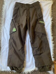 Burton DryRide Mens Snowboard Ski Cargo Pants Pockets Waterproof Brown Sm