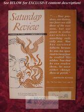 Saturday Review August 9 1952 HARRY OVERSTREET BERTRAND RUSSELL JOHN MASON BROWN
