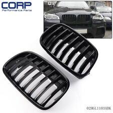 Pair Front Bumper Sport Grilles Grille For 07-13 BMW E70 E71 X5 X6  Black