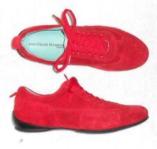 JEAN-CLAUDE MONDERER chaussures basses cuir daim rouge P 36 = 37 TBE