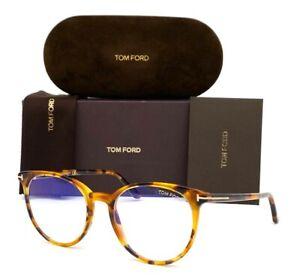 Tom Ford FT5575-B  056 Tortoise / Blue Block 51mm Eyeglasses TF5575-B