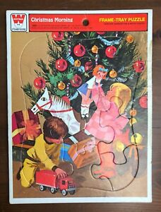 Vintage Whitman Frame-Tray Puzzle CHRISTMAS MORNING 12 Piece