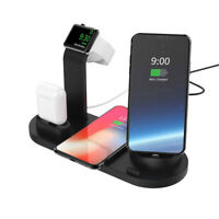 Qi Wireless Fast Charger Dock Charging Pad For iPhone XS Max XR X 8 Plus Samsung