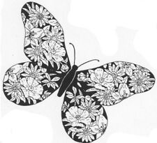 Unmounted Rubber Stamp, Flowers, Nature, Floral Stamps, Butterfly, Butterflies
