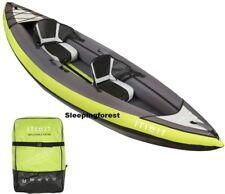 Inflatable Kayak Canoe Boat 2 Man Person Seat Sea River Intex Kayaking Green