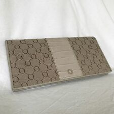 NWOT Genuine OROTON Signature O Monogram TRAVEL WALLET CHEQUE PASSPORT ORGANISER