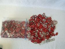 Red  Aluminum Pull Tabs for Craft  Projects Almost one pound of tabs