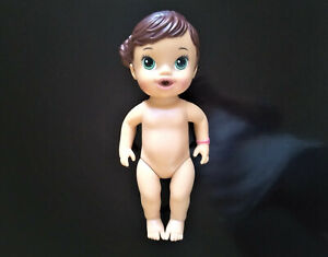 Baby Alive Doll 2014 Brunette Brown Molded Hair Green Eyes Lil Sip Tea Party