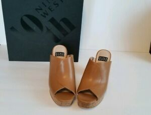 Nine West Lisana 40th Anniversary Capsule Collection Platform Slide Sandal 9...