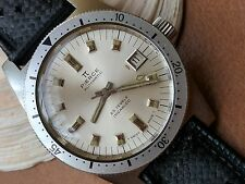 Vintage Pierce Divers Watch w/Warm Patina,Signed Crown,All SS Case,Tropic Strap