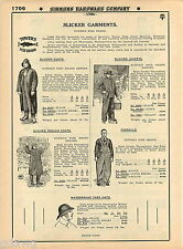 1935 ADVERT Tower's Fish Brand Slicker Clothes Garments Overalls Coats Jacket