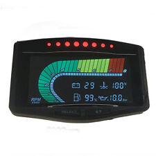 Car LCD Tachometer Oil Pressure Fuel Turbo Boost Gauge Bar PSI 0-8000 RPM Vacuum