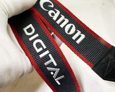 Canon camera Neck Strap GREY RED EOS Genuine OEM 4cm wide